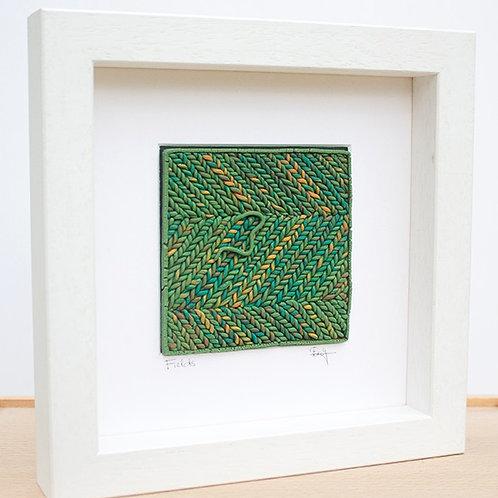 Green Threadscape Wall Art