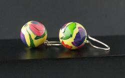 Tulip Garden. Ball Earrings