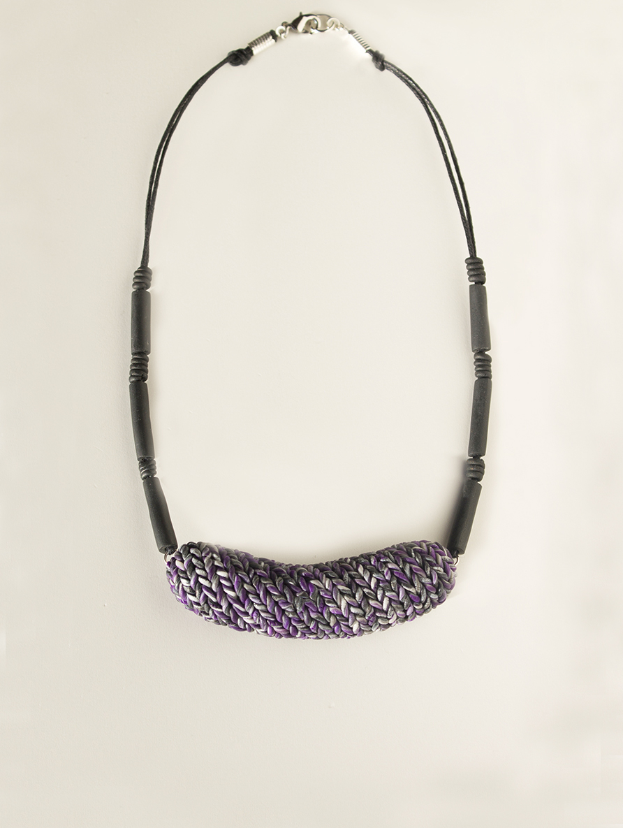 Purple Knit Inspired Necklace