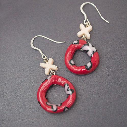 Red XX Earrings