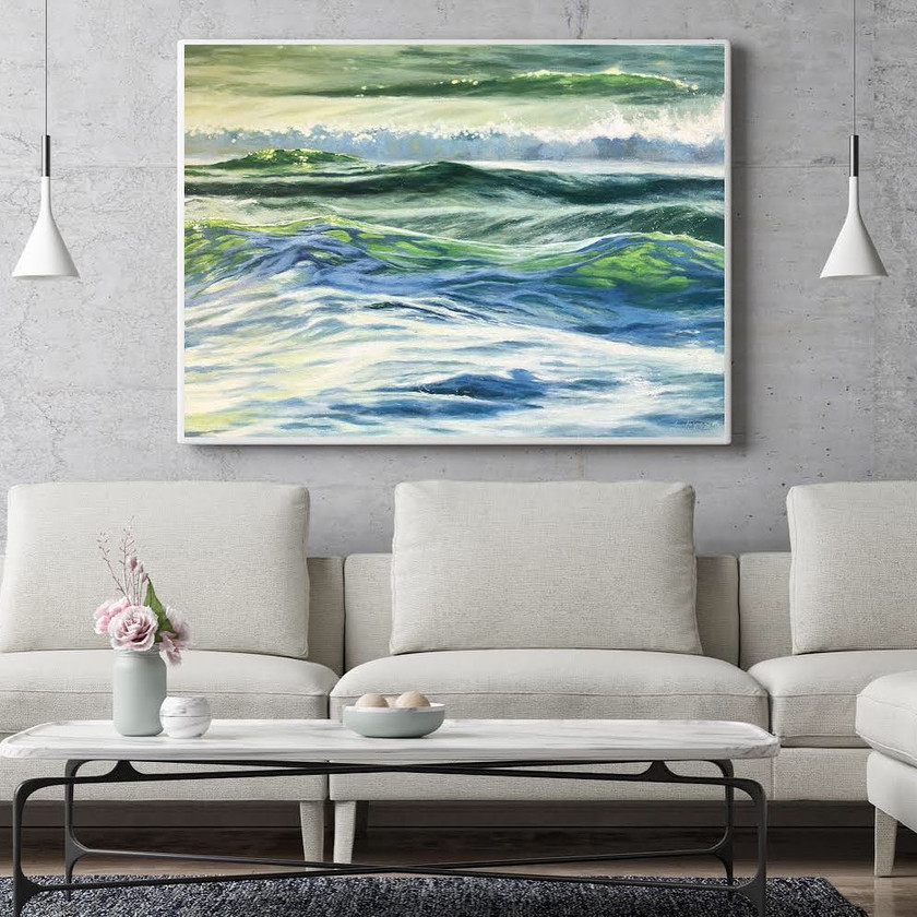 fine art ocean painting and seascapes by Fran Halpin
