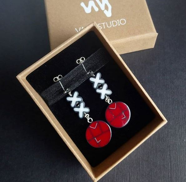 xx earrings valg studio