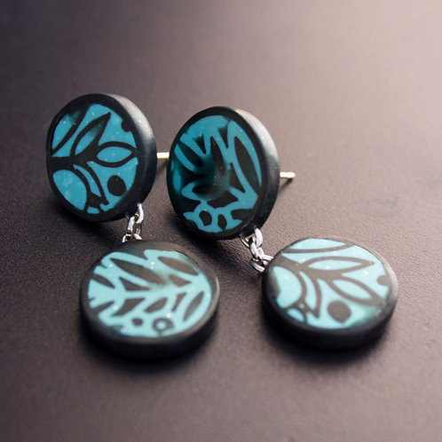 Contemporary Statement Stud Earrings