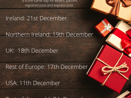 Postal dates and safety when receiving parcel during Covid-19