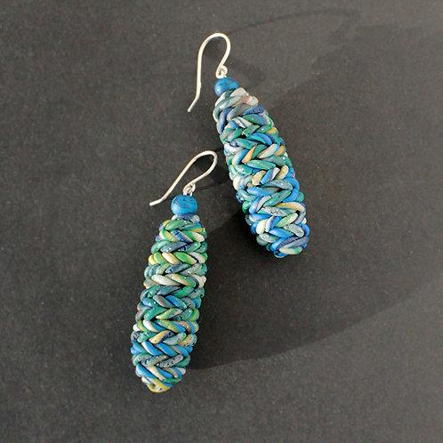 Blue Texture Earrings