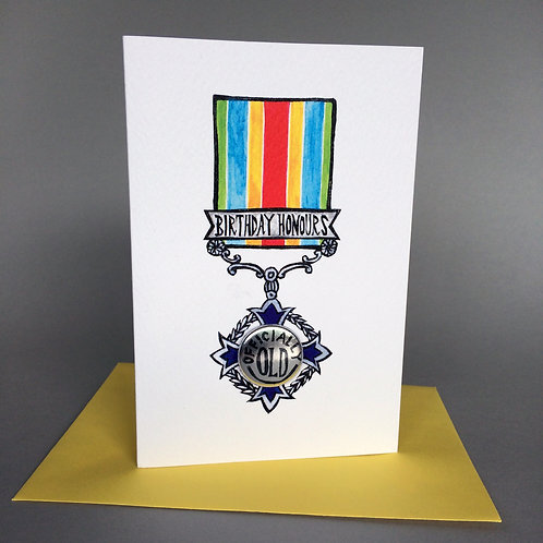 BIRTHDAY HONOURS MEDAL OFFICIALLY OLD