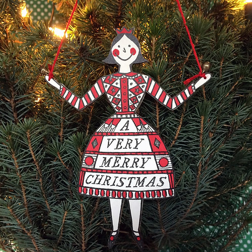LADY CHRISTMAS DECORATION