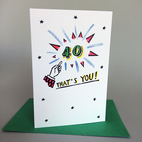 40 THAT'S YOU!