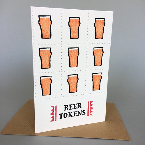 BEER TOKENS (STRAIGHT GLASS)