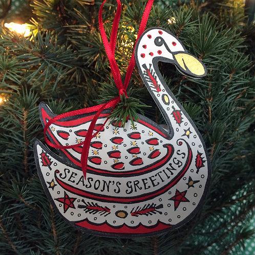 SWAN CHRISTMAS DECORATION