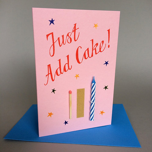 JUST ADD CAKE! CANDLE & MATCH PINK