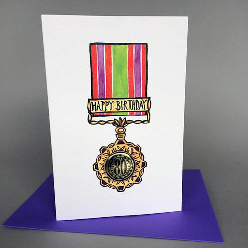 80 HAPPY BIRTHDAY MEDAL