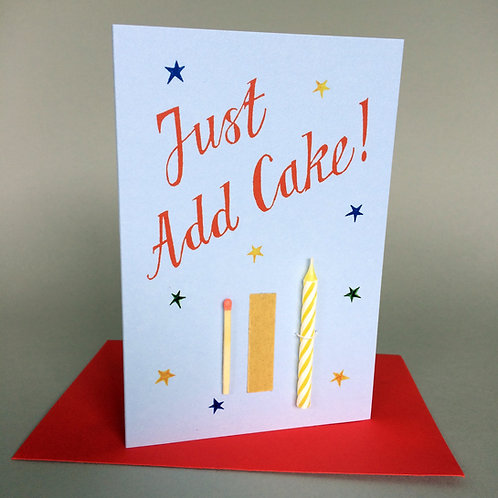 JUST ADD CAKE! CANDLE & MATCH BLUE