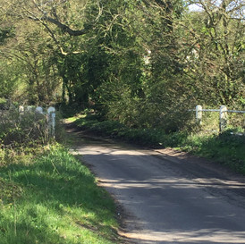 The lane up to School Farm