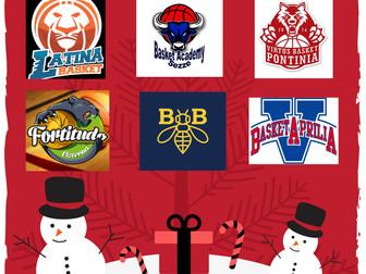 Il Basket Bee presenta il Torneo di Natale - Categoria Scoiattoli, dal 20 al 22 Dicembre