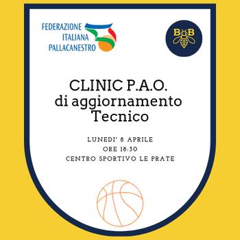 Clinic P.A.O. di aggiornamento Tecnico Lunedì 9 Aprile al Pala le Prate