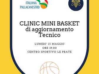 Clinic di aggiornamento Mini Basket al Centro Sportivo le Prate