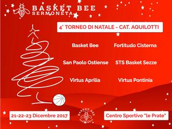 Il Basket Bee presenta il '4° Torneo di Natale - Categoria Aquilotti'