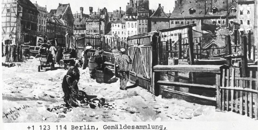 Julius Jacob, 1842-1929), Auf der Inselbrücke, (Aufn. vor 1940), 1884, Berlin, Gemäldesammlung