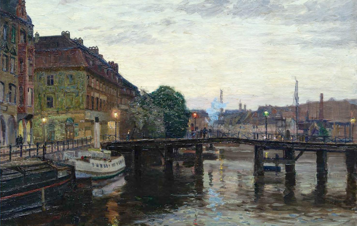Erich Mueller (1912), Blick auf die Inselbrücke stromaufwärts