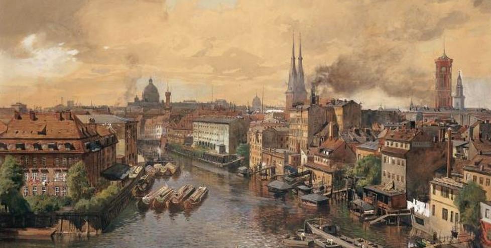 Julius Jacob d. J. (1842-1929), Blick über die Spree