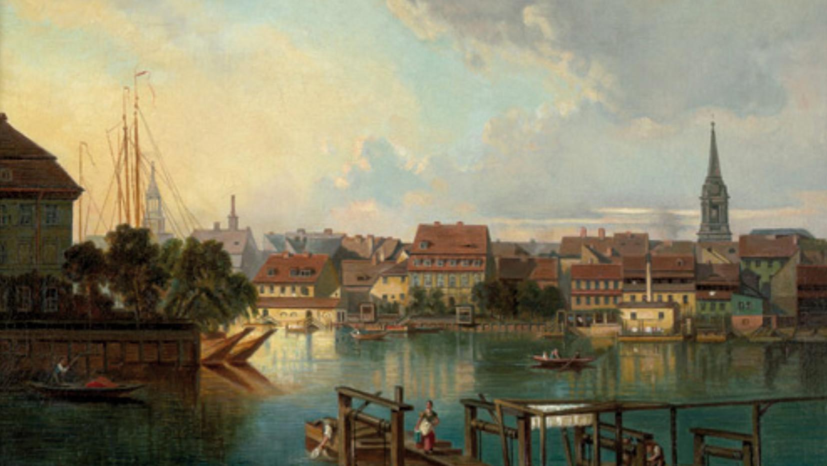 Nils Kühling (1868), Neu-Kölln am Wasser, Blick auf den Kroegel