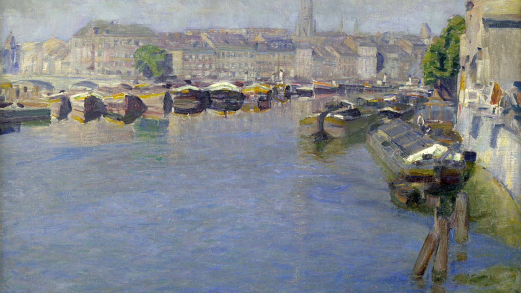 Otto Heinrich, ca. 1912, Blick auf Inselbrücke und Fischerinsel