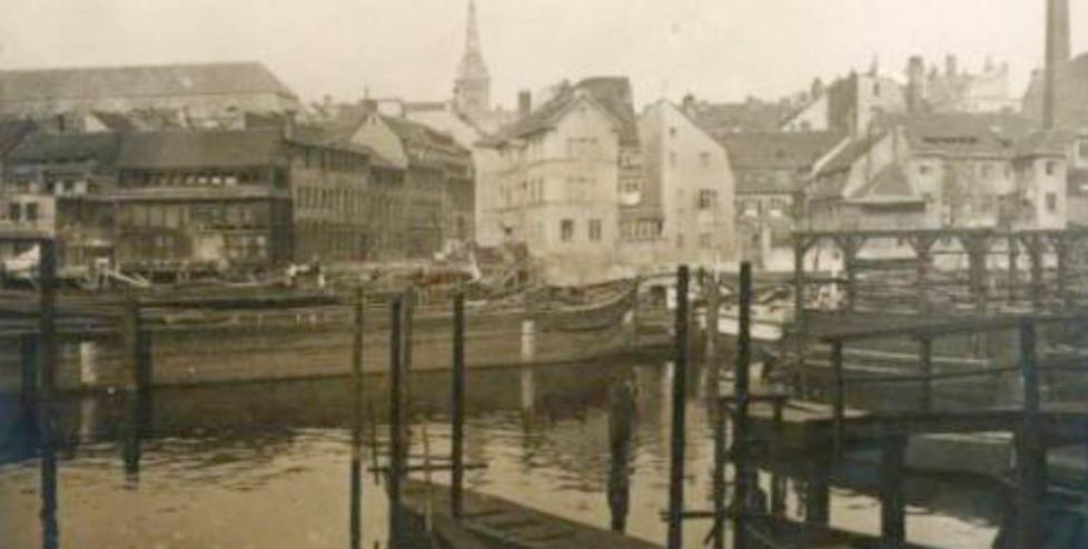 Blick von Neukölln am Wasser, ca. 1908