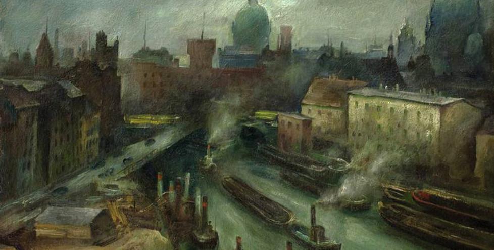 Albert Birkle (um 1925), Blick auf den Mühlendamm