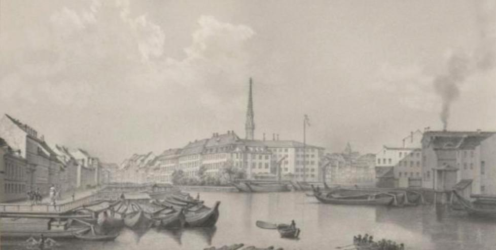Franz Alexander Borchel (1860), Blick von der Waisen- zur Inselbrücke