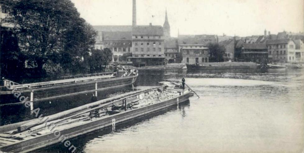 Unbekannt (ca 1910), Blick von Inselbrücke nordwestlich Richtung Krögel