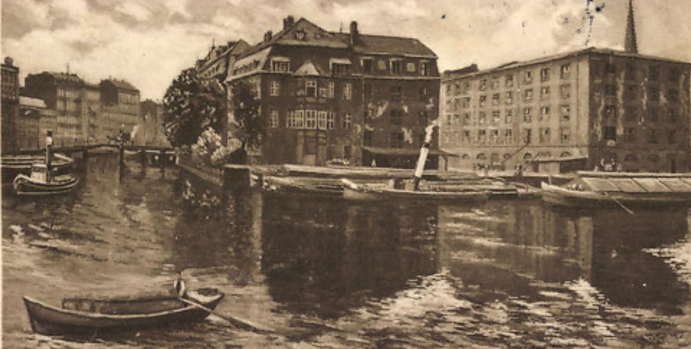 N.N. (ca. 1890), Blick auf Inselbrücke und Inselspeicher
