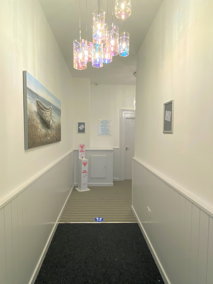 Entrance hall way to apartments