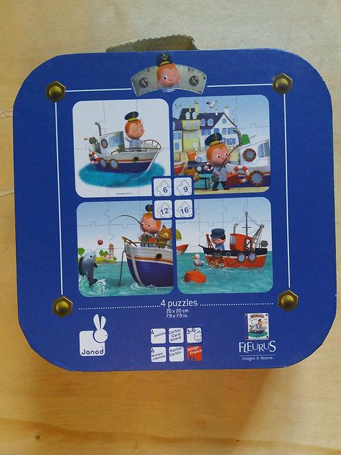 . 4 puzzles bateau