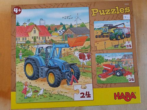 . Puzzles tracteur