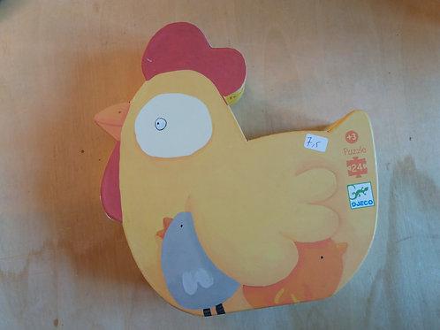 . Puzzle poule 24pc