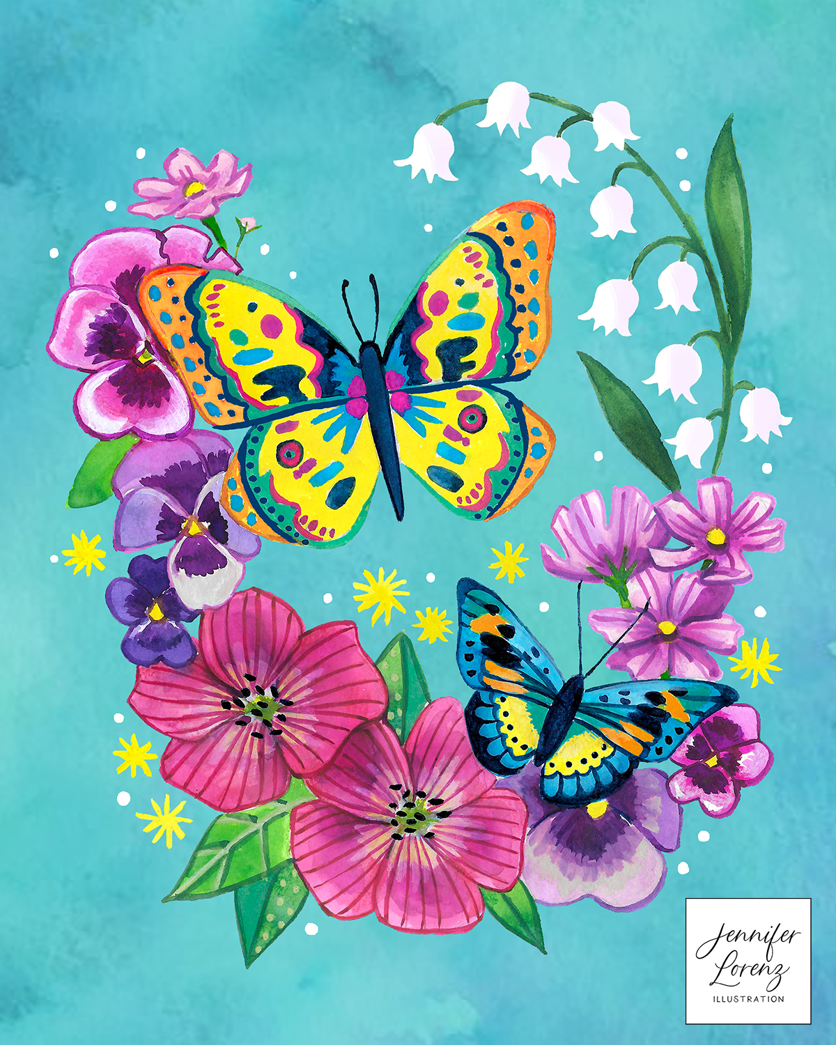 Butterflies and Blooms