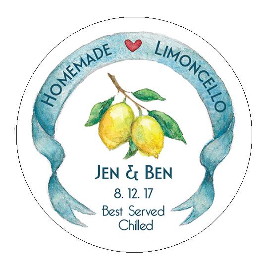 Homemade Limoncello Wedding sticker