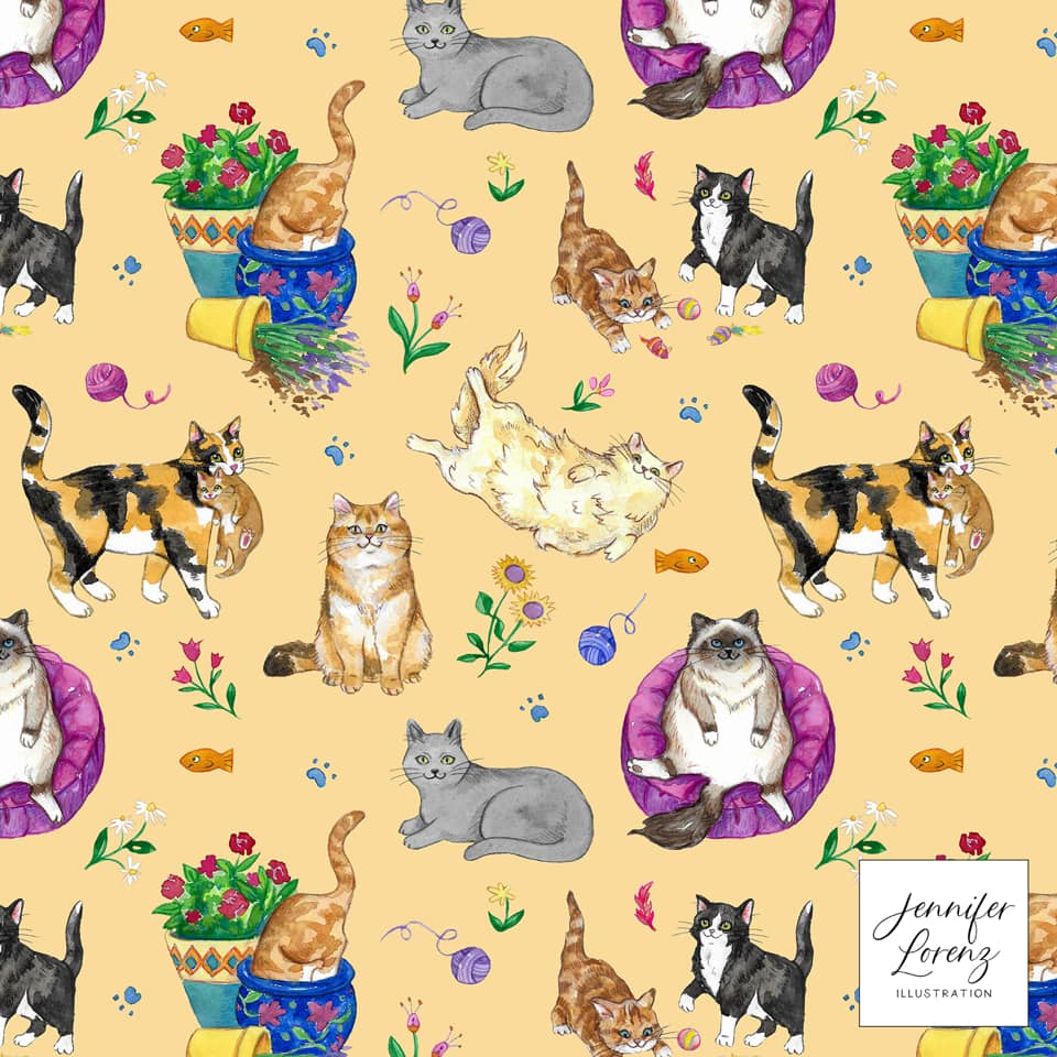 Summer Kitties Pattern