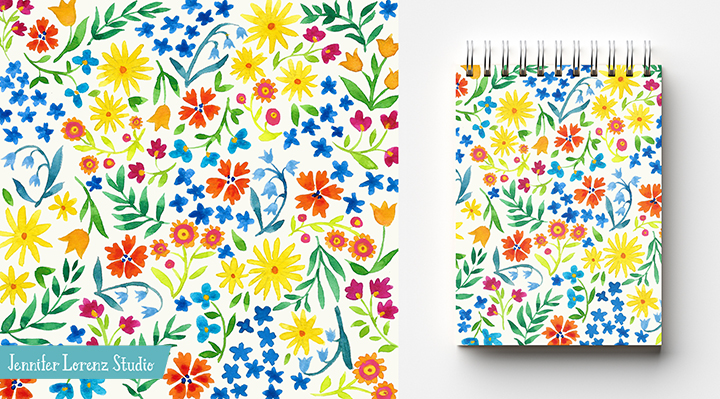 Ditsy Floral Notebook