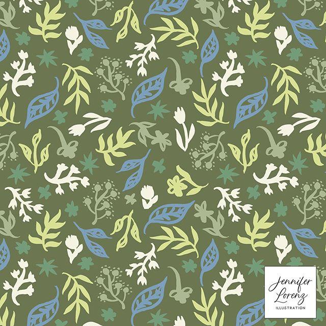 Floral Greens Pattern