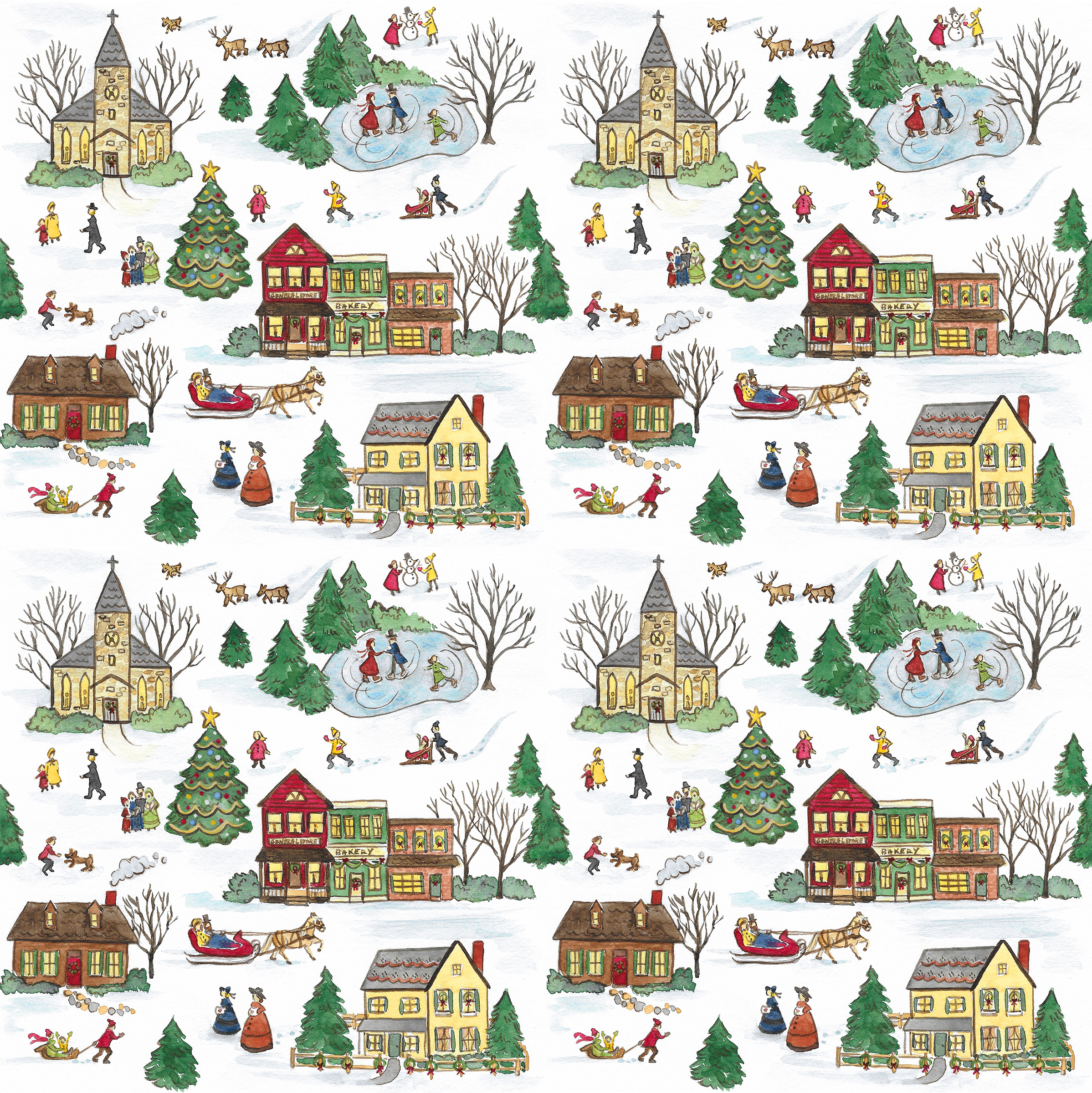 Victorian Christmas Pattern
