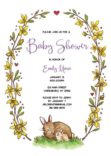 Neutral Spring Baby Shower Invitatio
