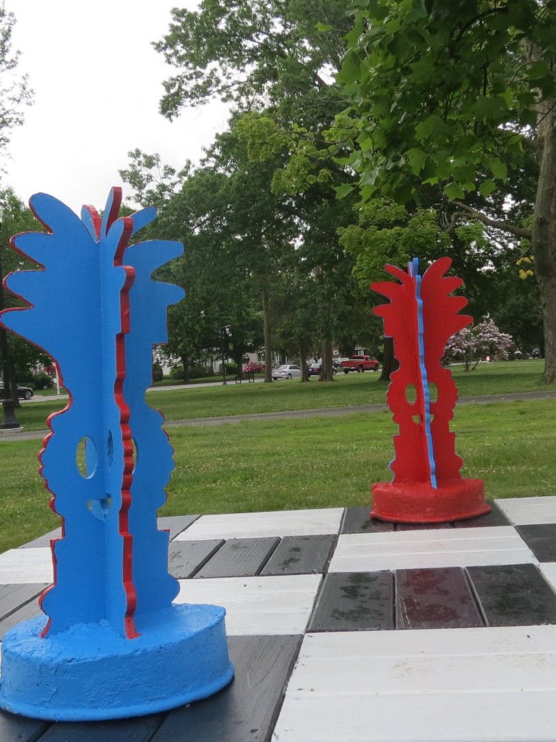 3D Design Students - North High School   Worcester, MA   CHESS IN THE PARK