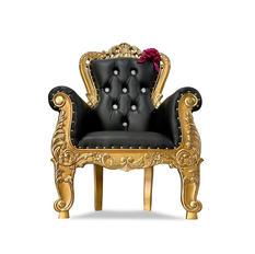Black/Gold Kids Throne
