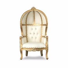 White/Gold Kids Porter Throne