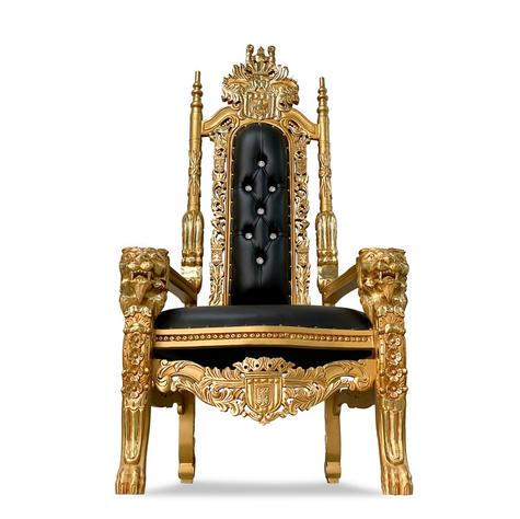 Black/Gold King Throne