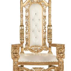 White/Gold Lion Throne