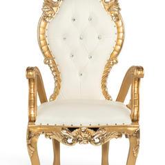 White/Gold Queen Throne