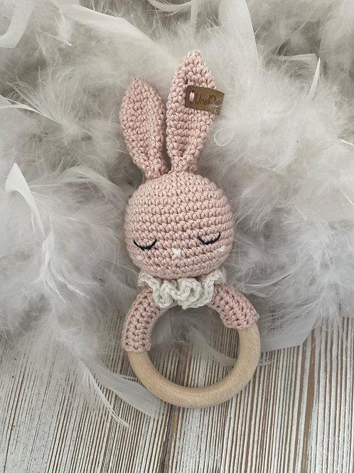Adorable lapin anneau dentition, amigurumi en crochet pour bébé,cadeau naissance